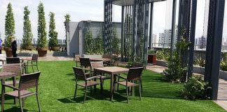 Rooftop garden with balcon
