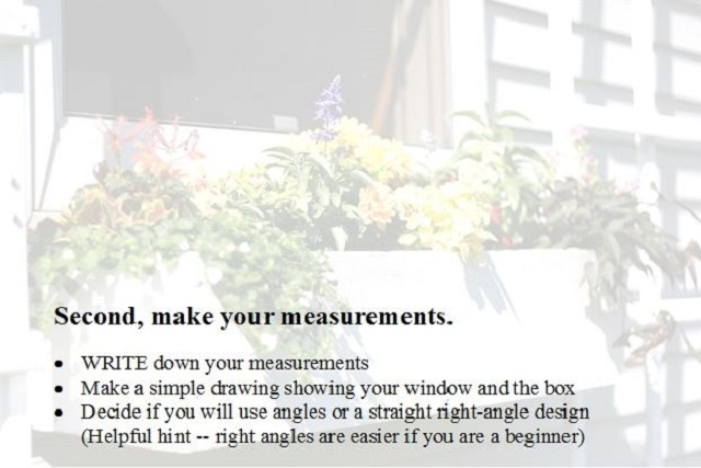 list of making measurements