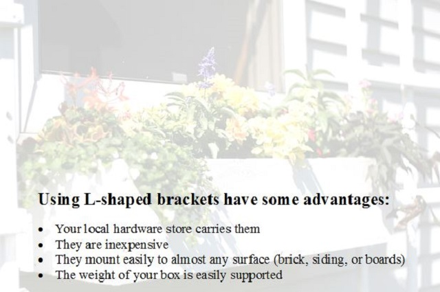 list of advantages for using l shaped brackets