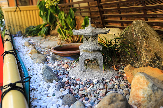 miniature garden with mini shrine